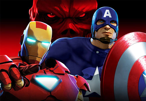 کارتون Iron Man and Captain America: Heroes United